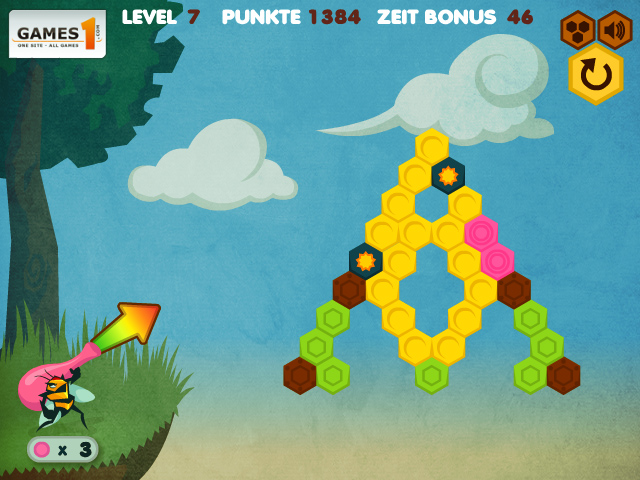 Puzzle shooter mobile game