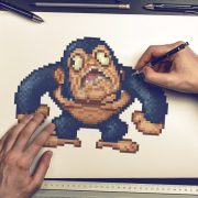 old school pixelart in bananamania