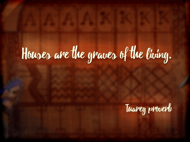 tuareg proverb in algerian solitaire