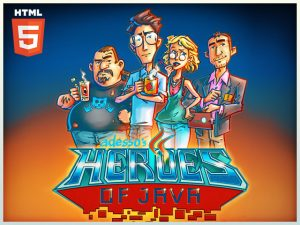 adesso html5 advergame heroes of java