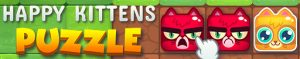 happy kittens puzzle banner