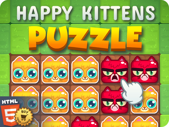 Buy HTML5 game Happy Kittens puzzle