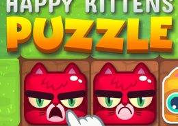 Happy Kittens Puzzle HTML5 game