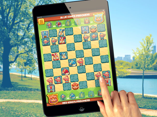 HTML5 game chess tablet