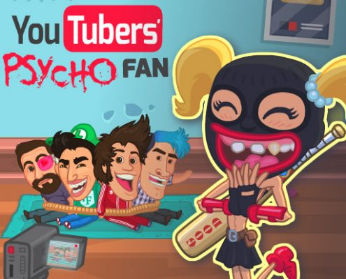 Youtuber's Psycho Fan HTML5 game