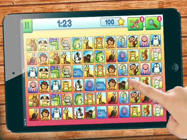 Animal Connection HTML5 game on ipad